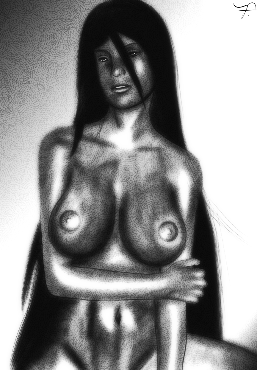 Dark Hair Nude