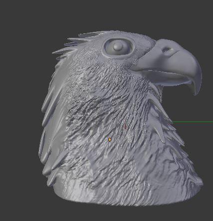 Eagle 3D sculpted