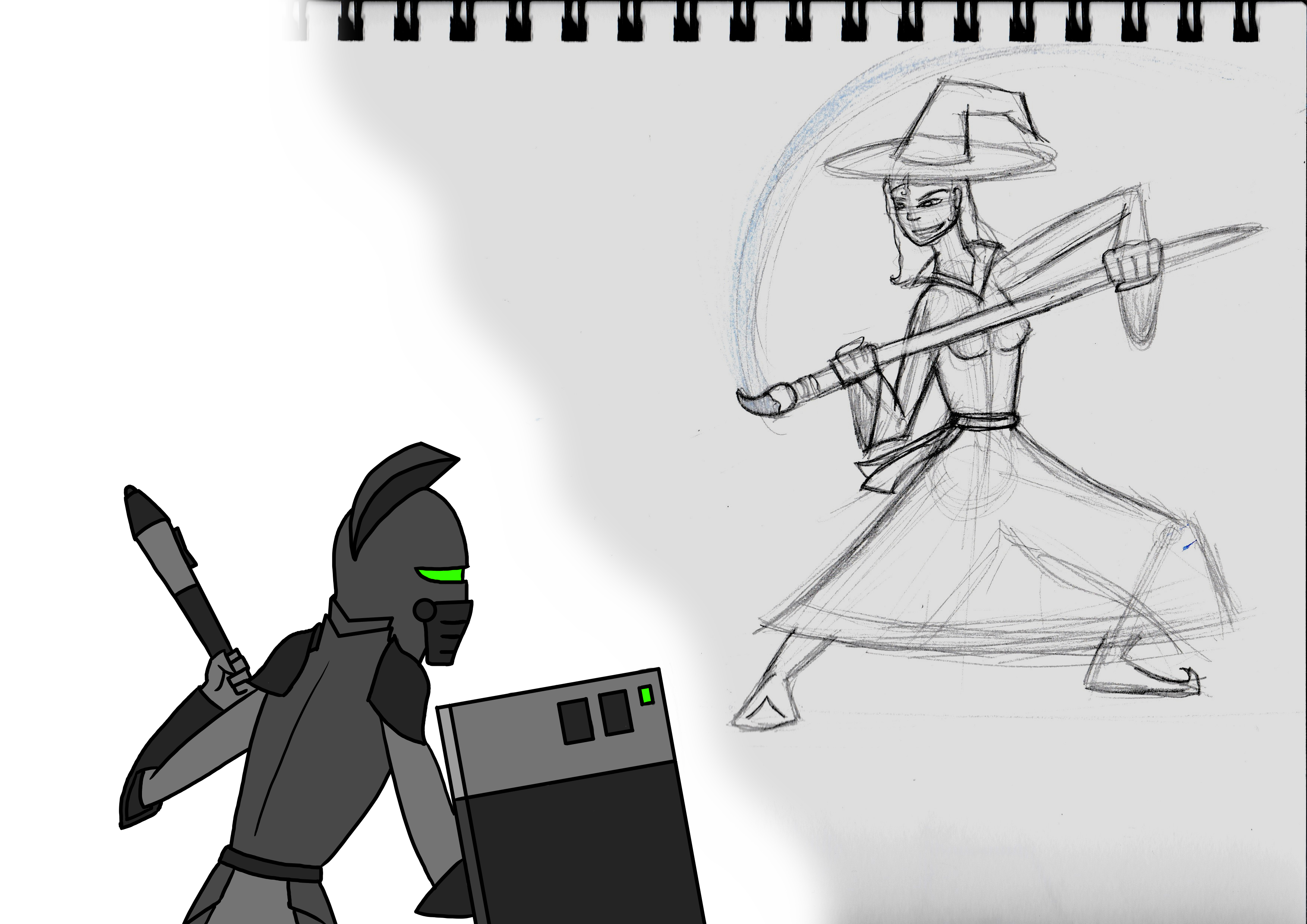 Tablet Knight VS Sketch Witch