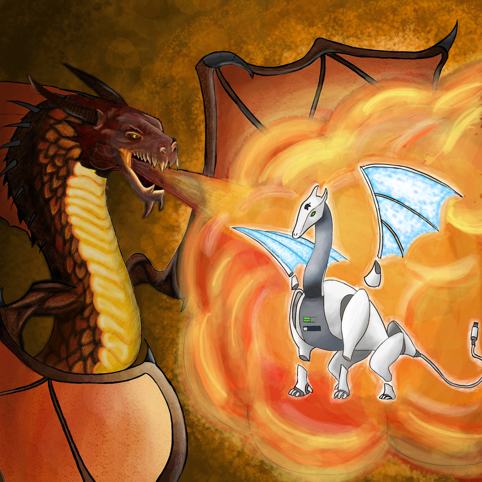 Traditional Dragon Vs Apple iDragon