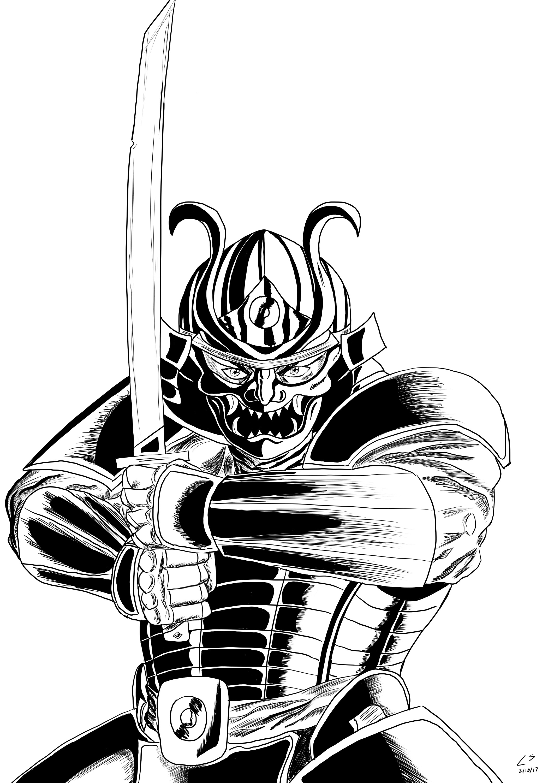 Samurai Lineart
