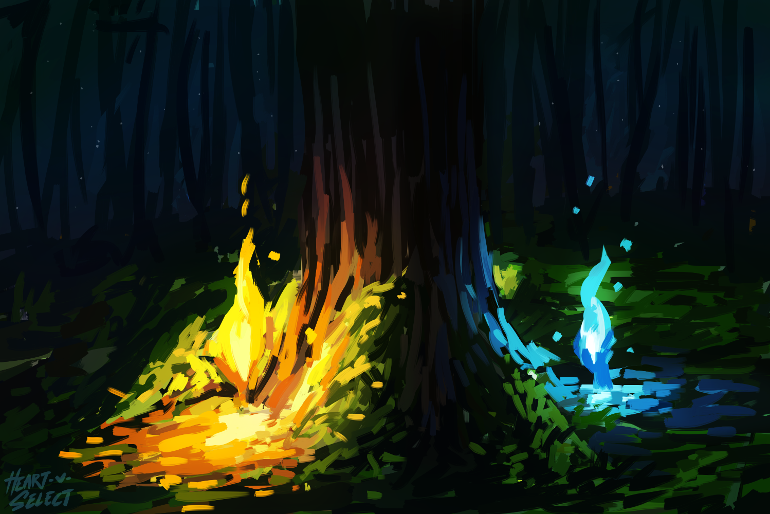 Fire and Wisps