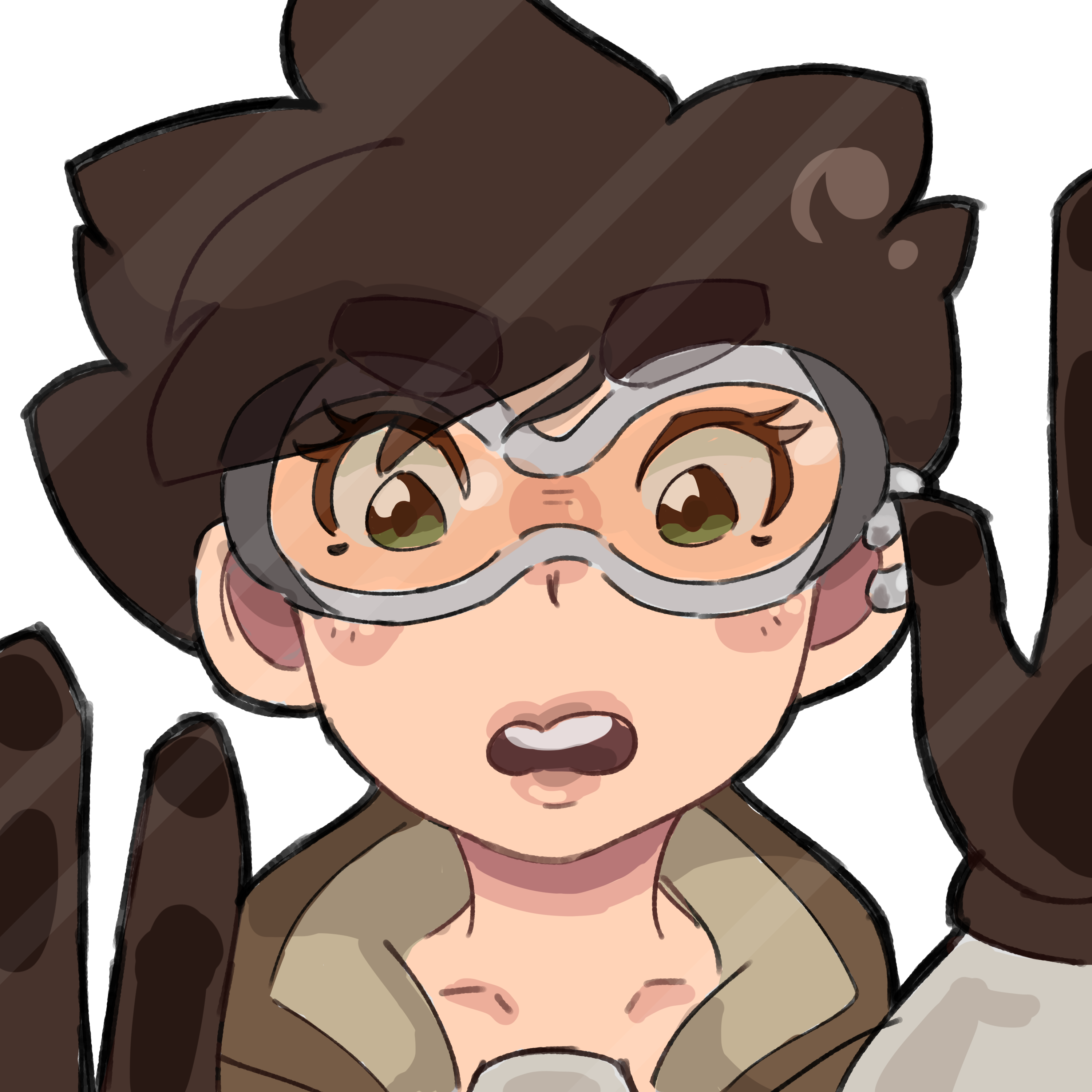 tracer trapped in ur screen oh no