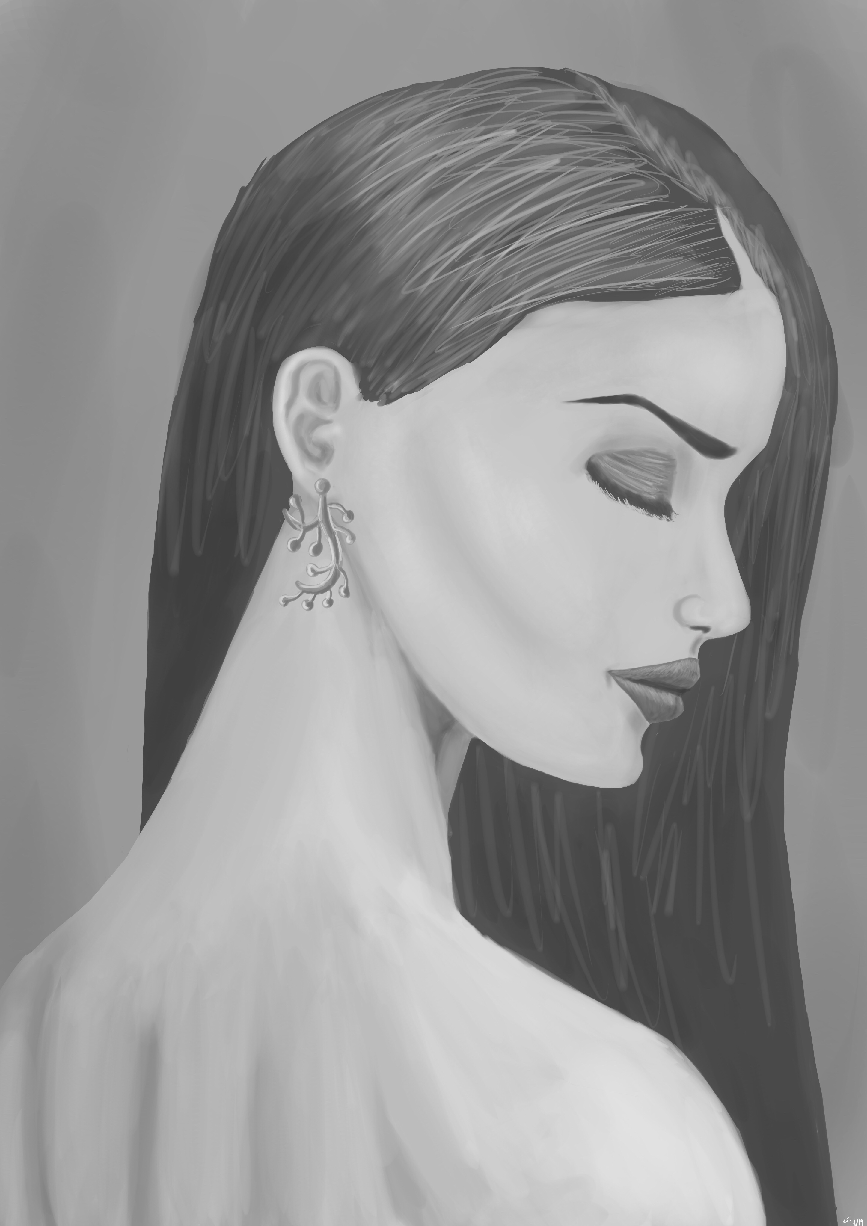 Woman: Greyscale