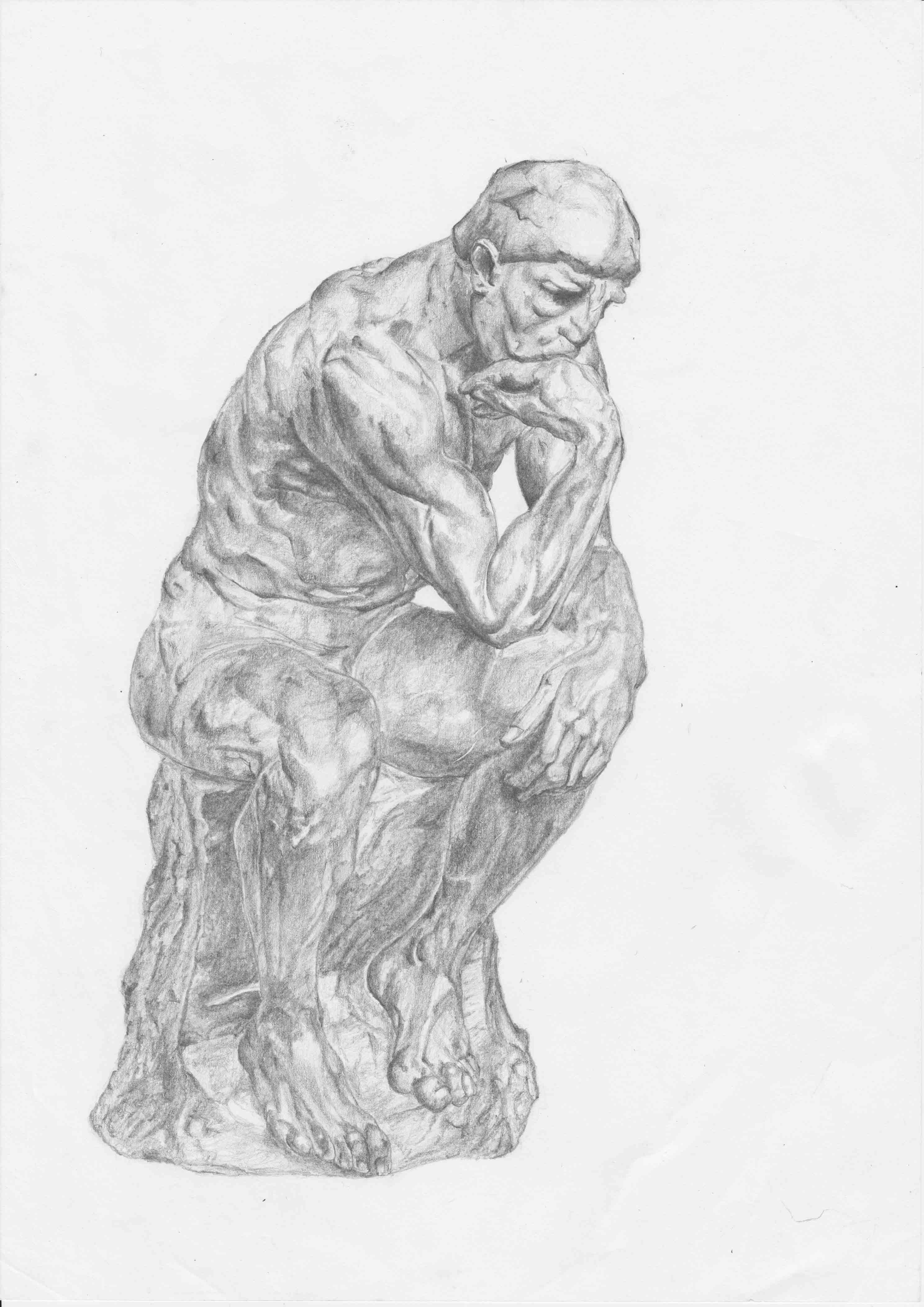 Rodin's 'The Thinker' - Rendered