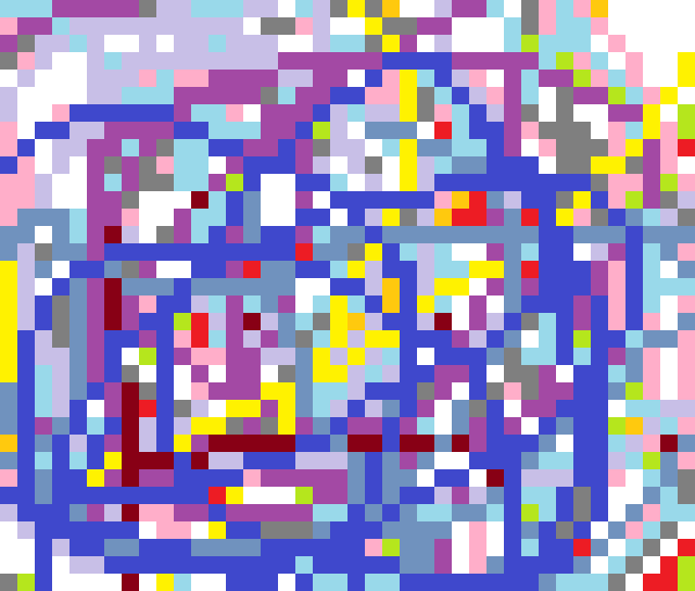 A mess of colors some idiot will say has meaning