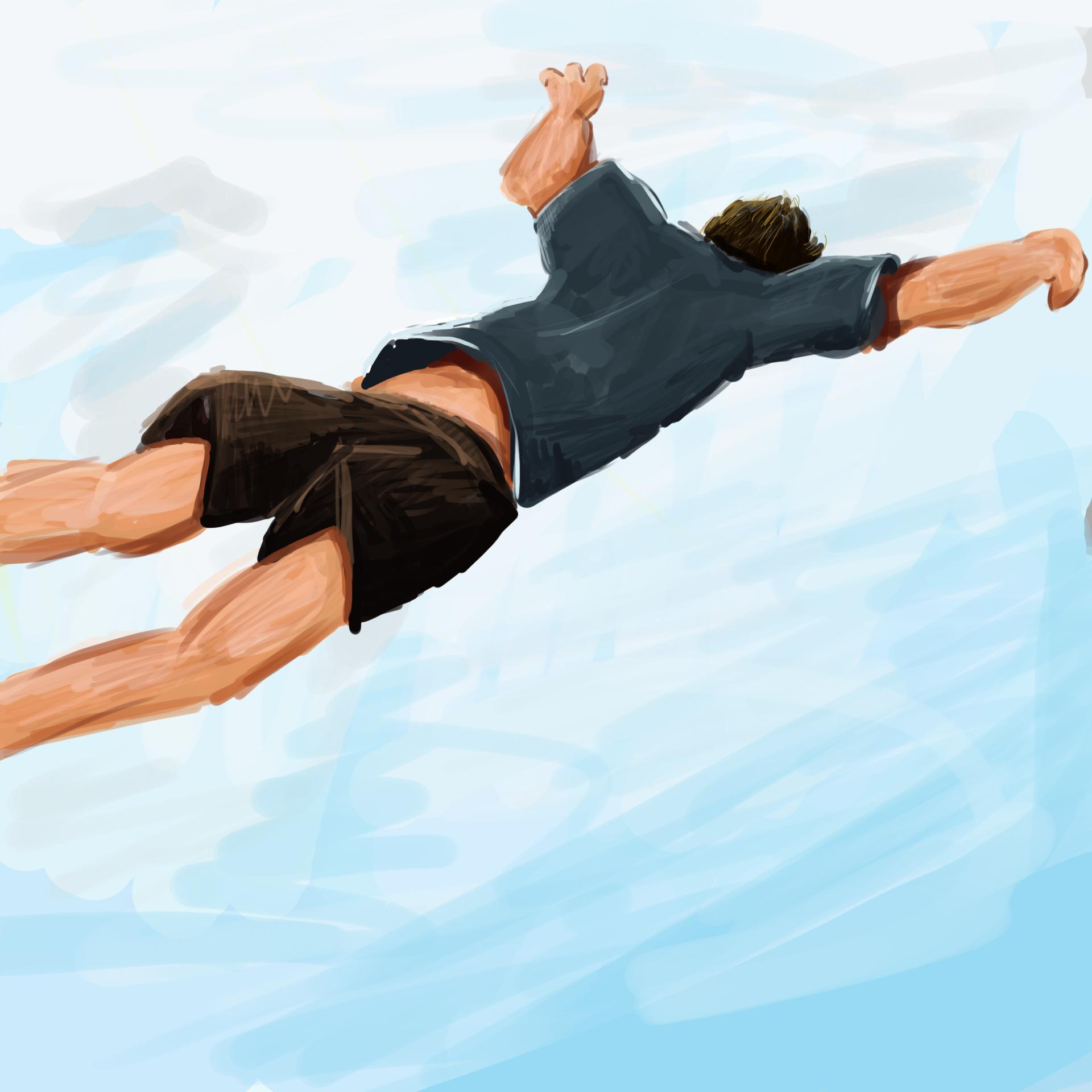 Random Free Fall