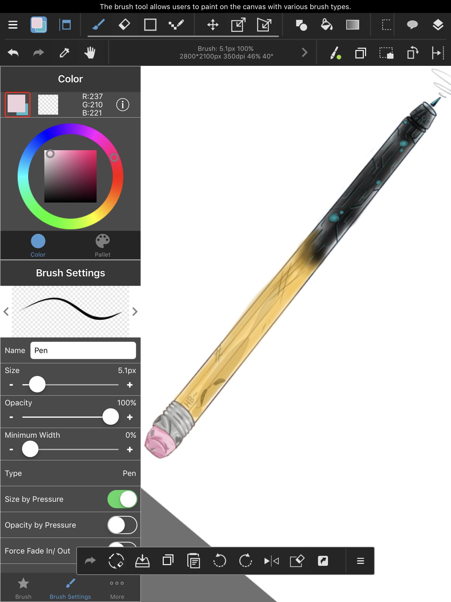 Mid way point ( Pencil meet Stylus