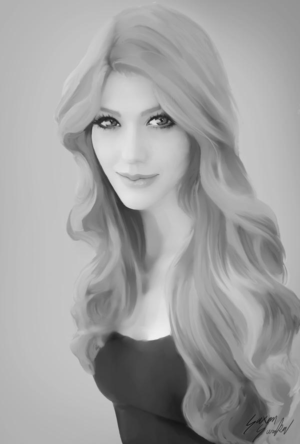 Greyscale Portrait 001