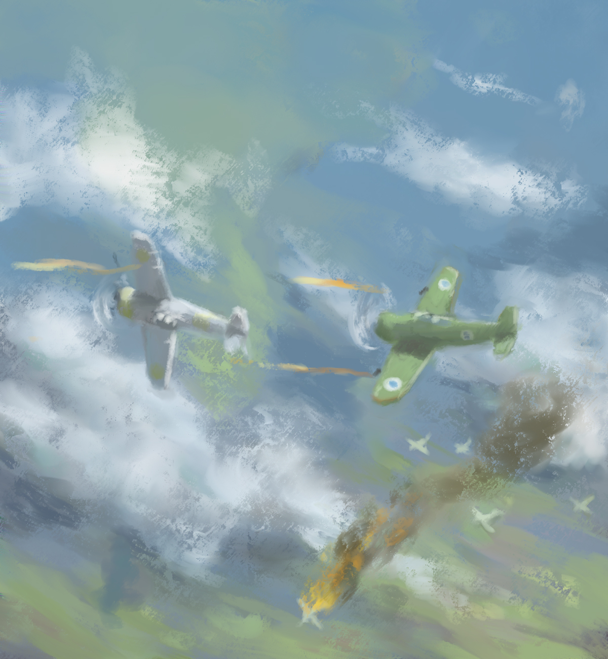 30 minute speedpaint - Playing tag