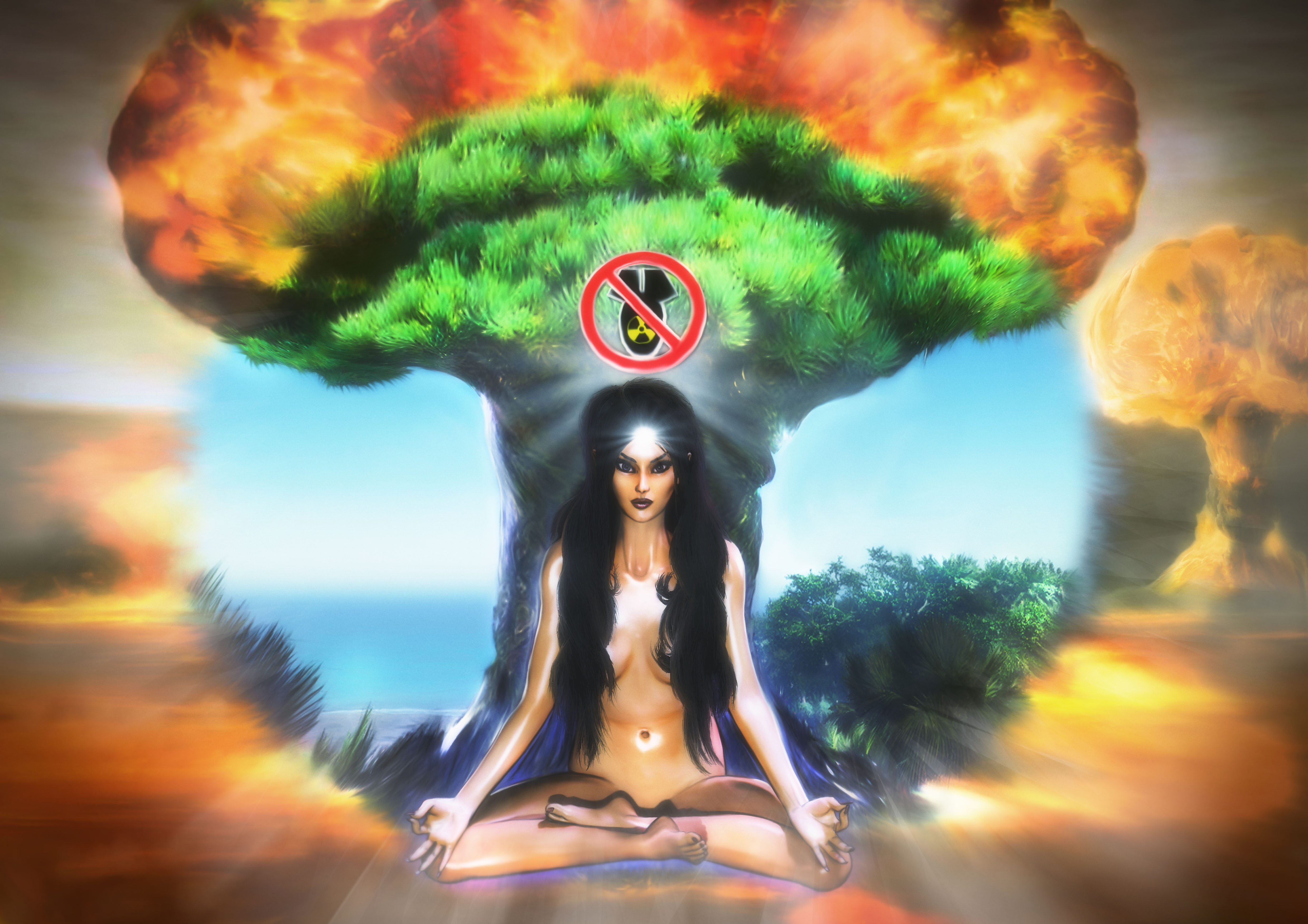 Ban Nuclear Nuclear Weapons, Meditate for Peace
