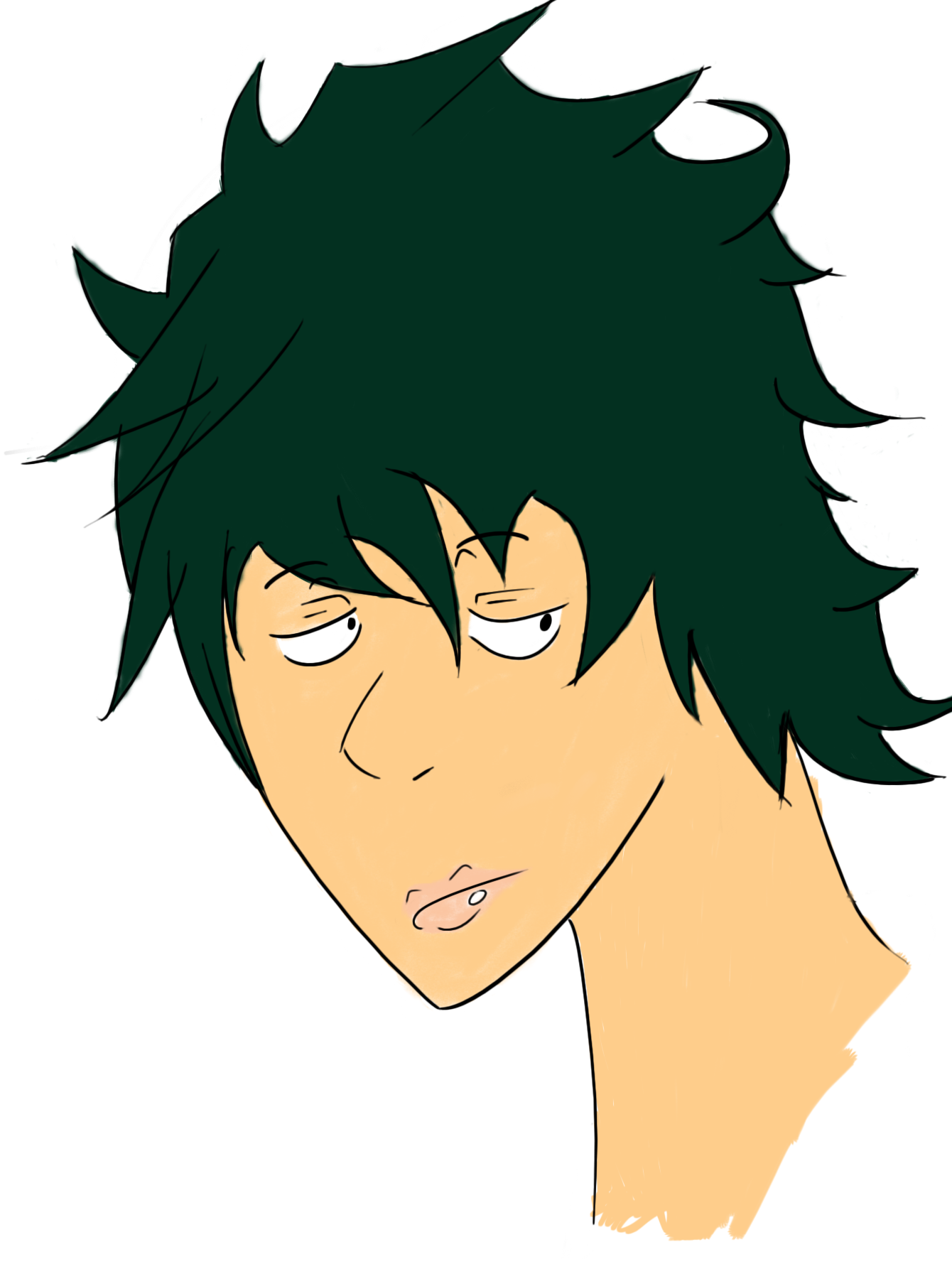 a face I drew why is hair so hard to draw?