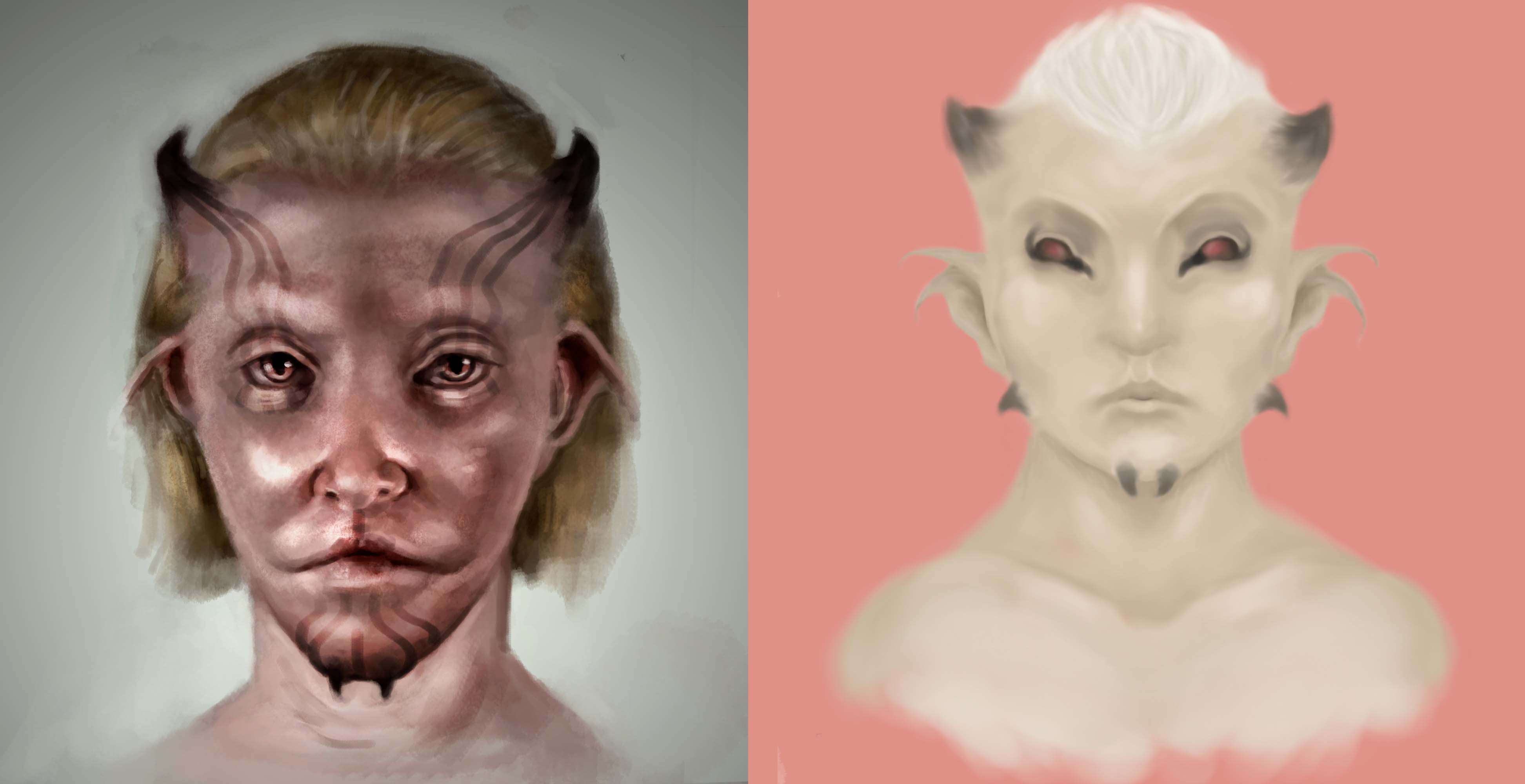 Goat face ( old and new)