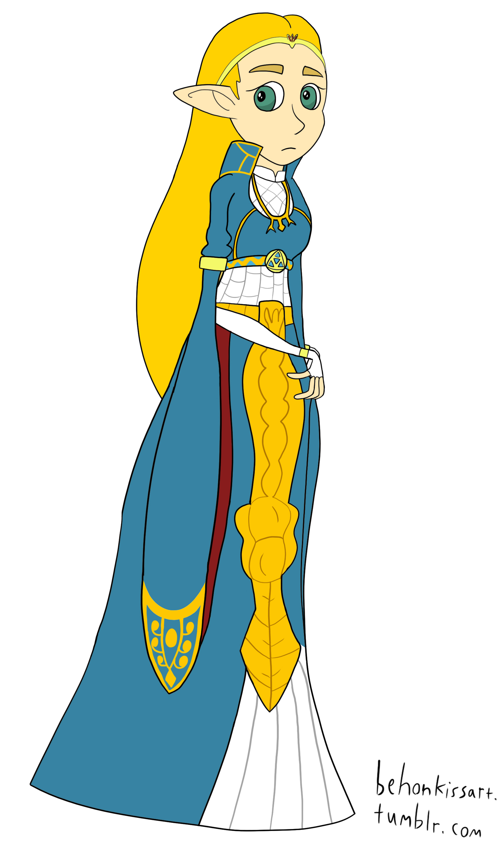 Breath of the Wild - Zelda in ceremonial robes