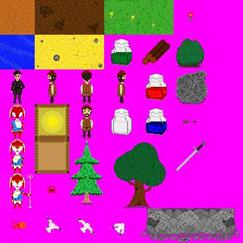 Pixel RPG free Sprites