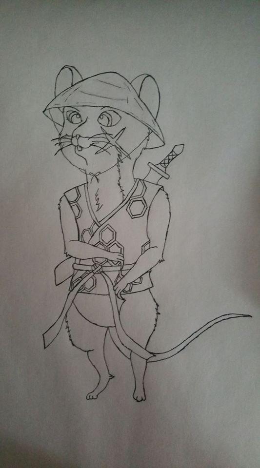 Toshihiro (Boldened Outline Sketch)