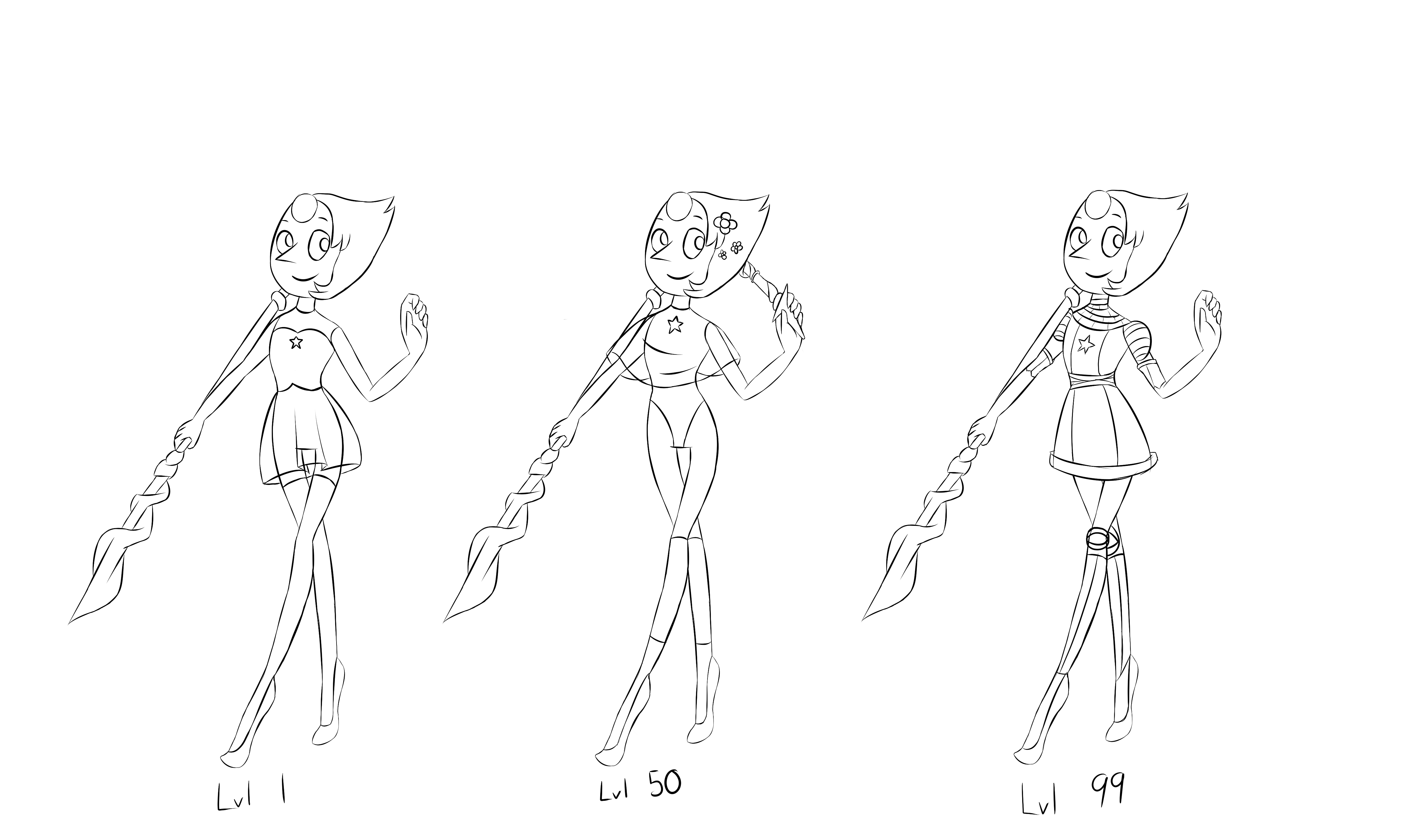 WIP of Pearl's Level Progression for Jazza's Art Comp