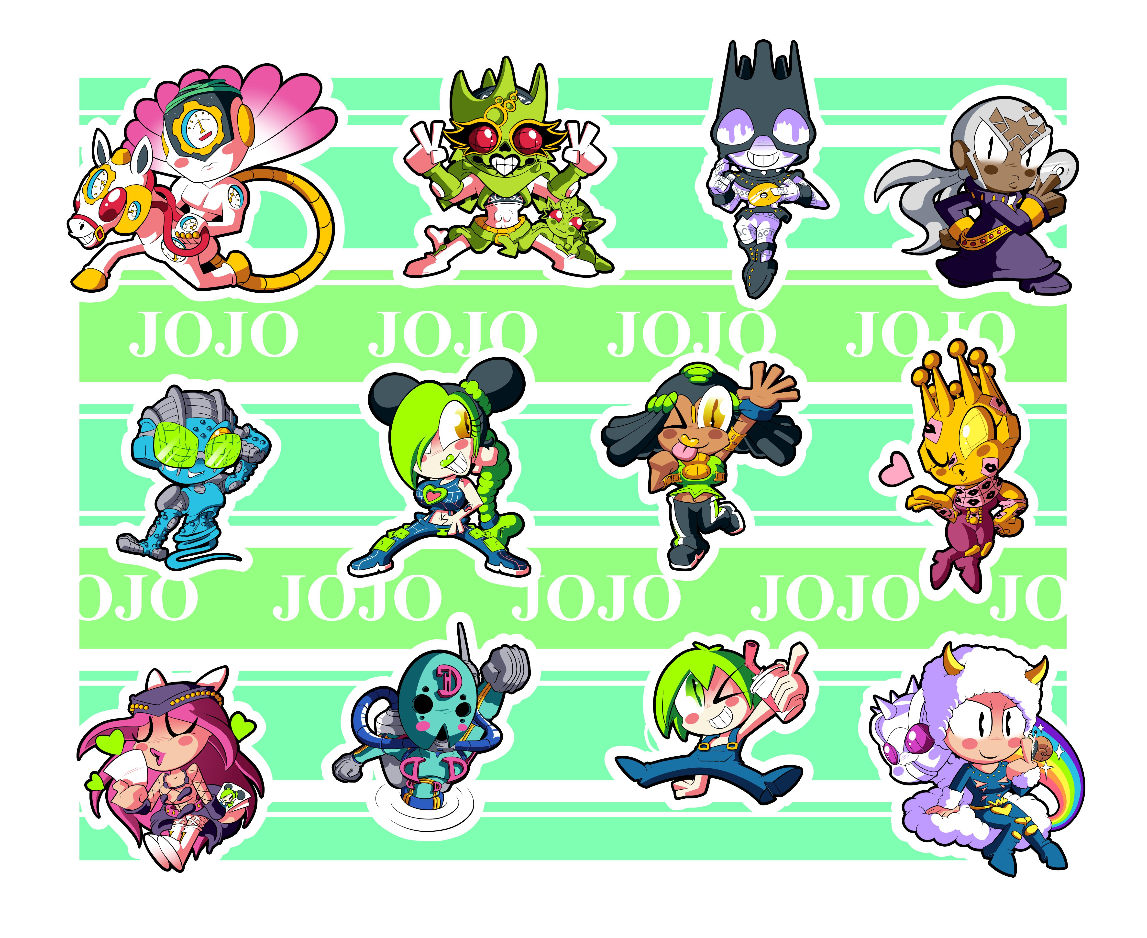 Jojo Part 6 Chibis