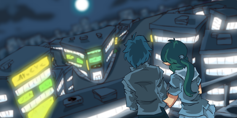 Night on the Roof