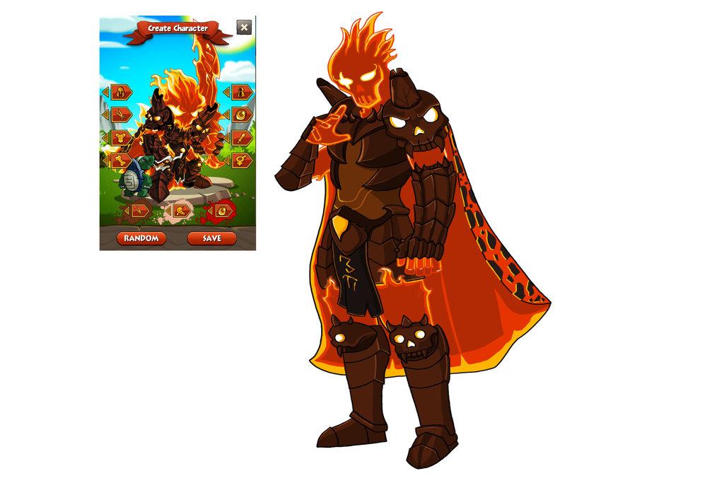 Fire elemental warrior (Fan Art)