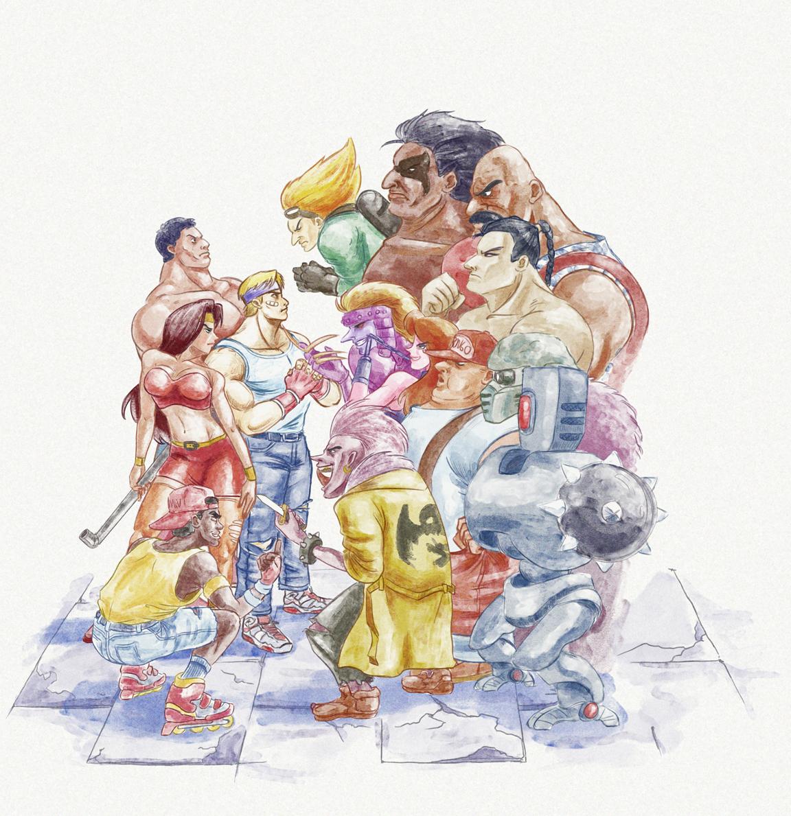 Streets of Rage 2 - 80s Capcom Style