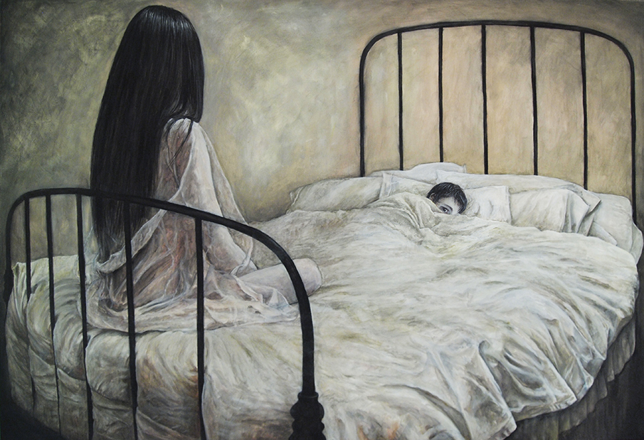 My first submission. Oil painting titled 'The one that never leaves'