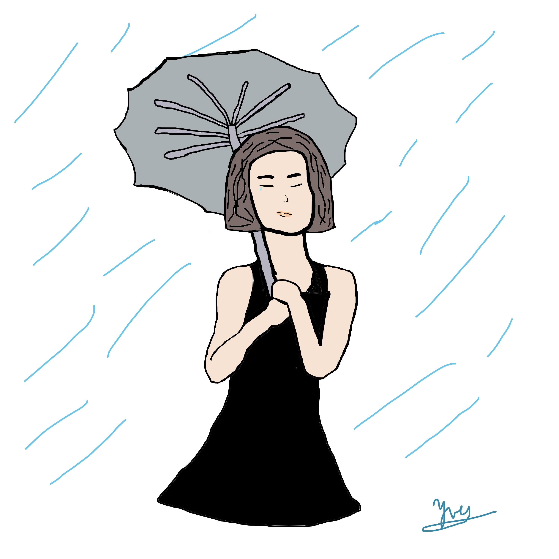 Tear and rain