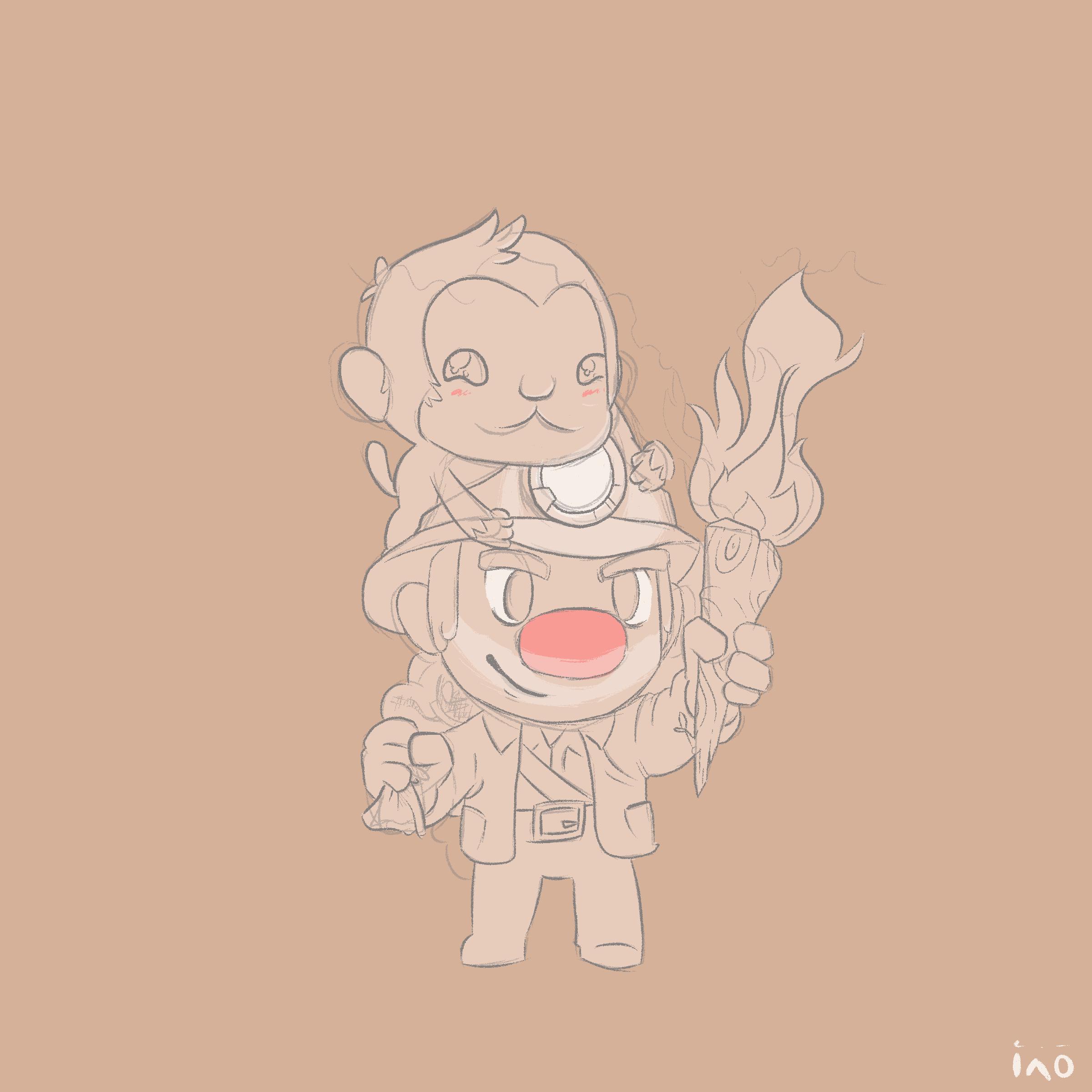 Spelunky & Monkey