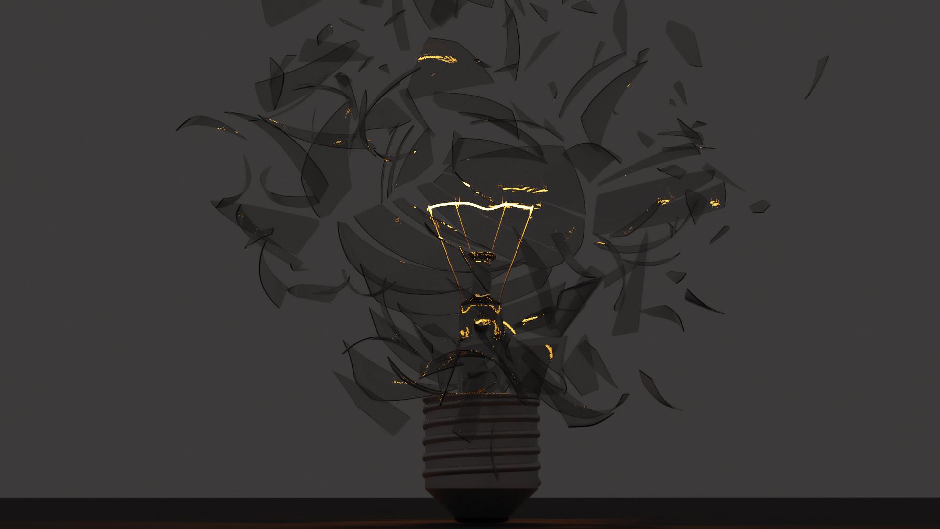 Lightbulb Cracked