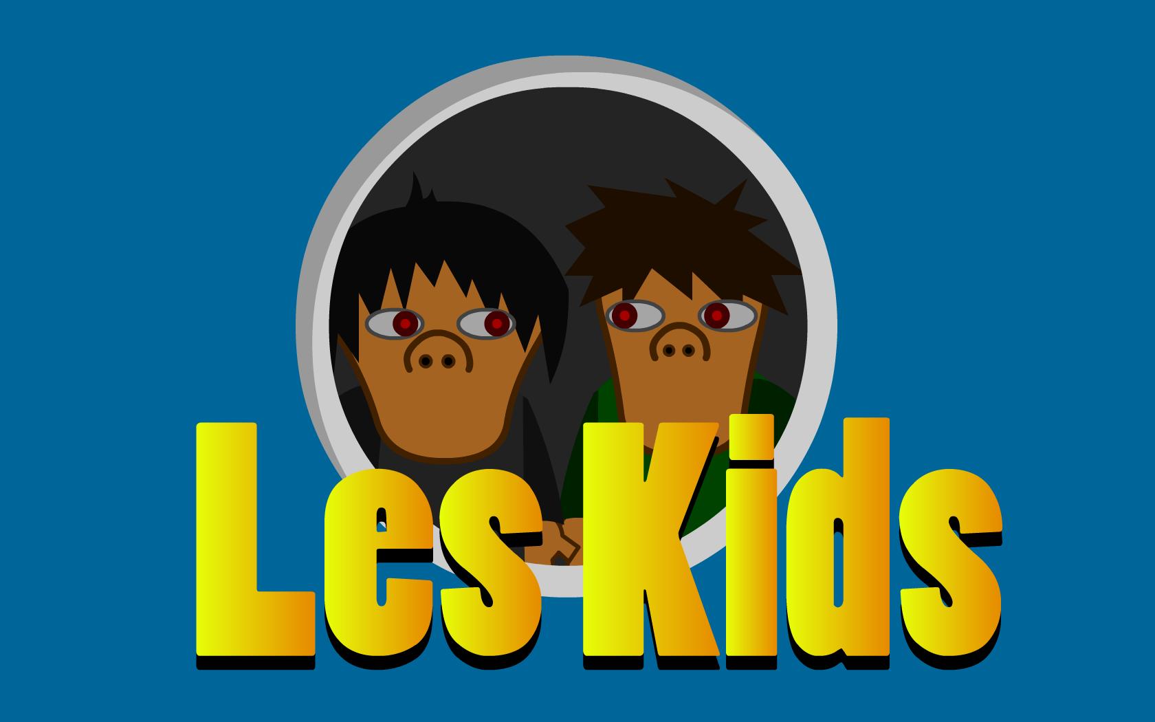 Les Kids (WallPaper) Blue