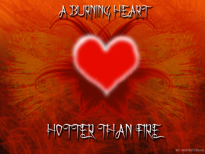 A burning heart