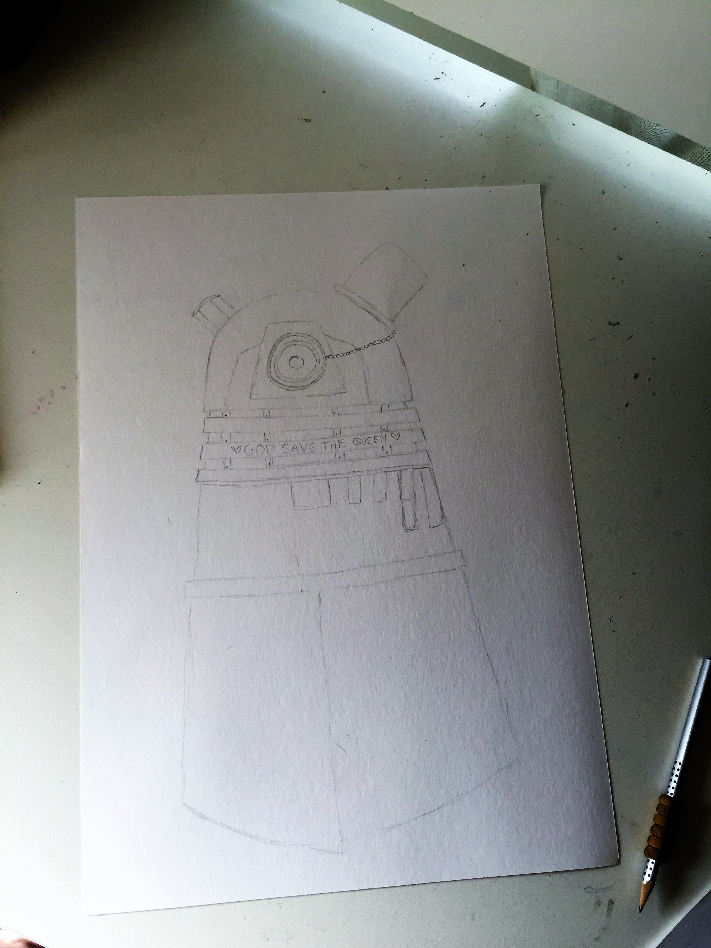 The Ultimately British Darlek Sketch