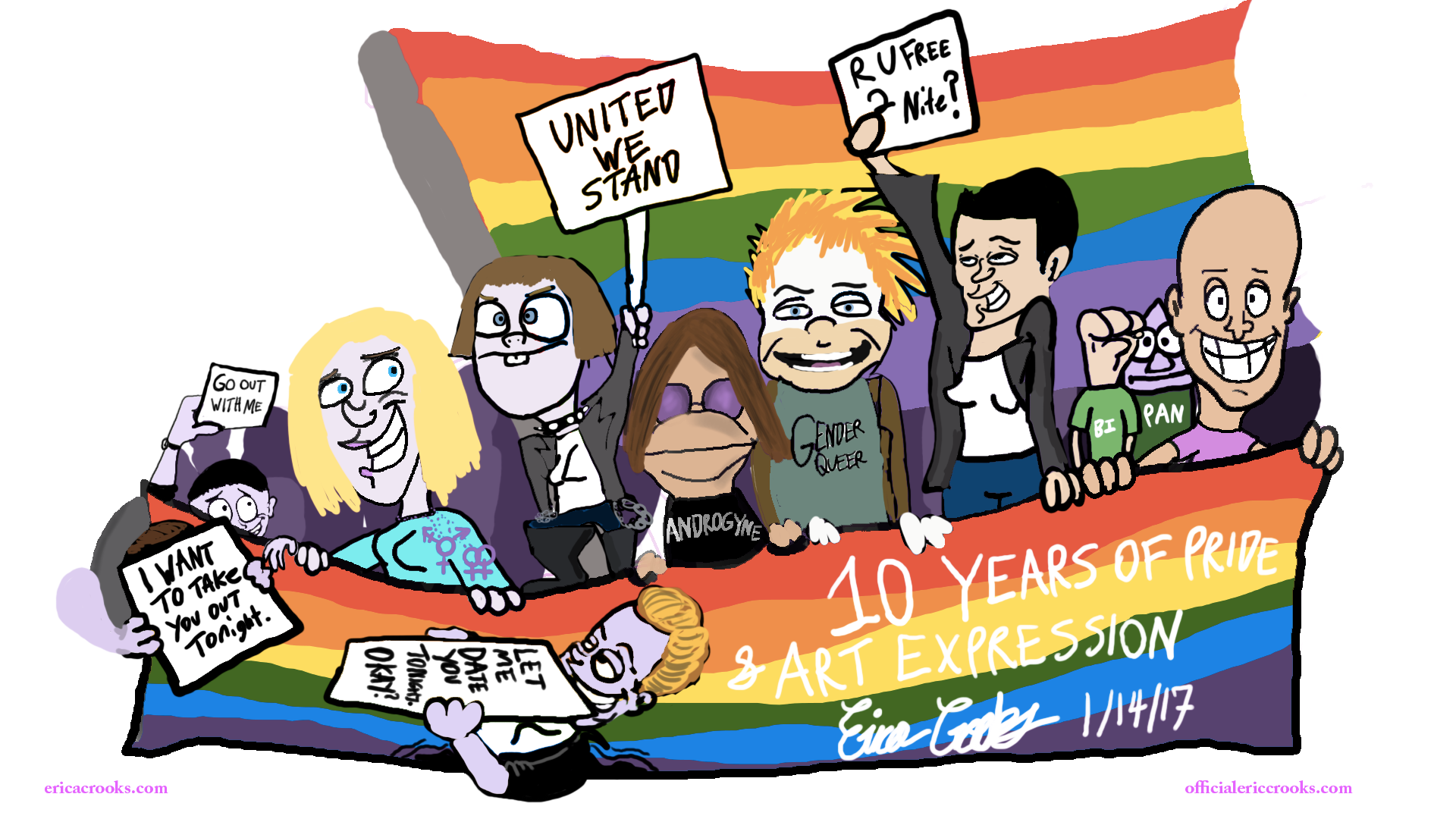 Erica Crooks - 10 years of LGBTQ Pride