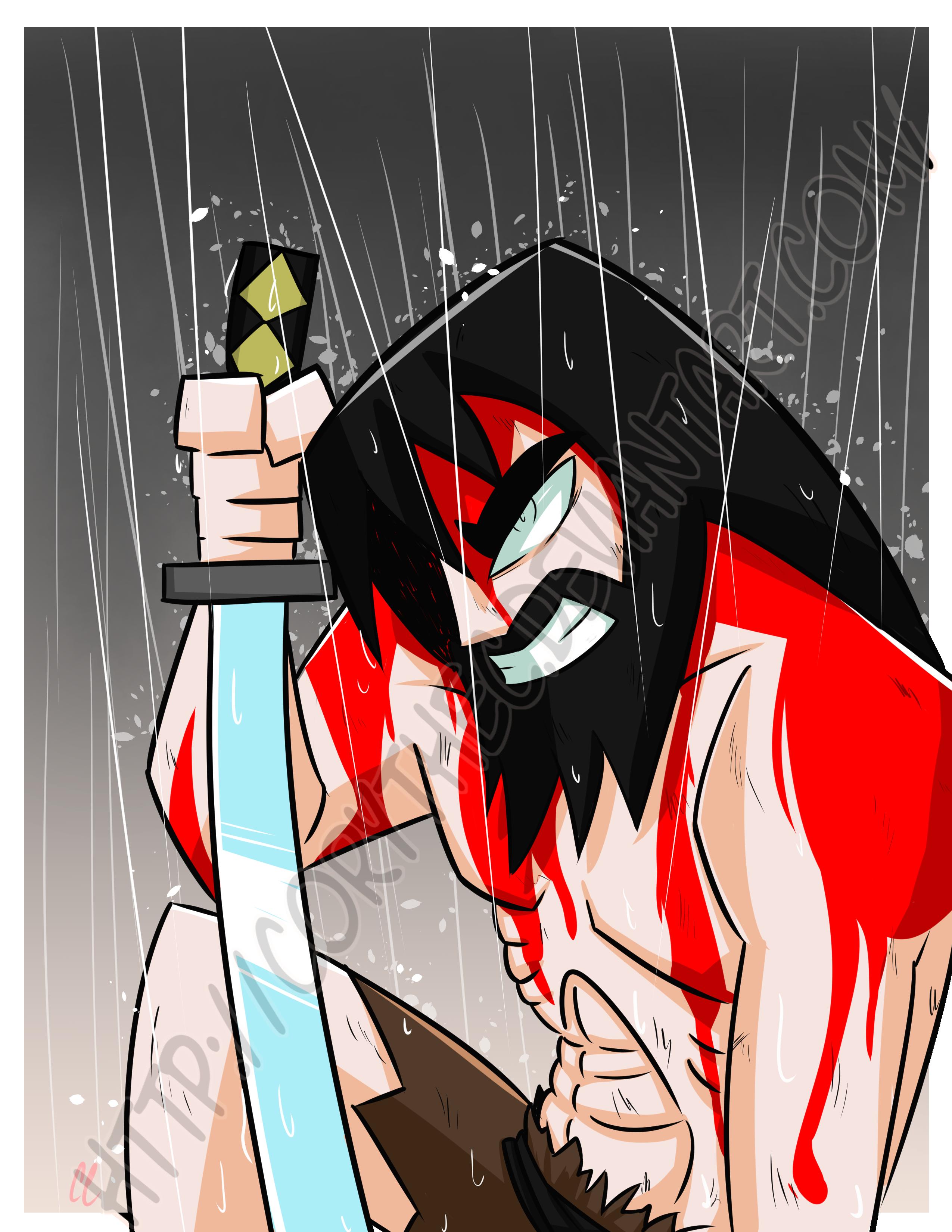 The Battle Has Only Just Begun|Samurai Jack Print