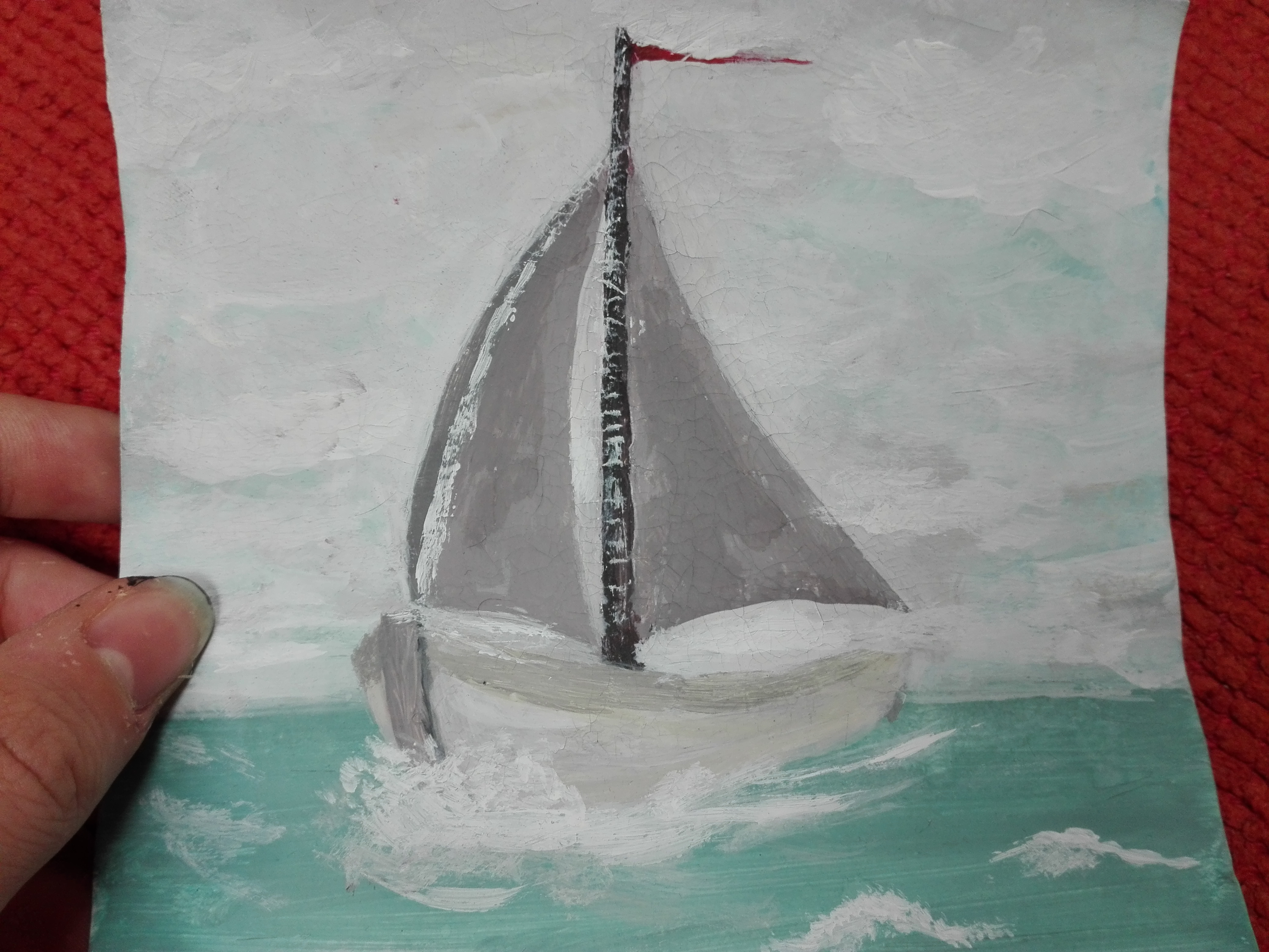 Sailing on a cloudy day
