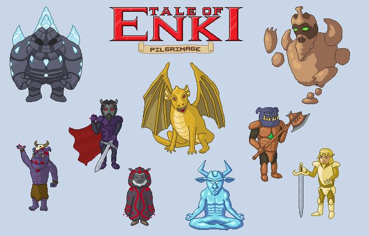 Tale of Enki: Pilgrimage - Bosses