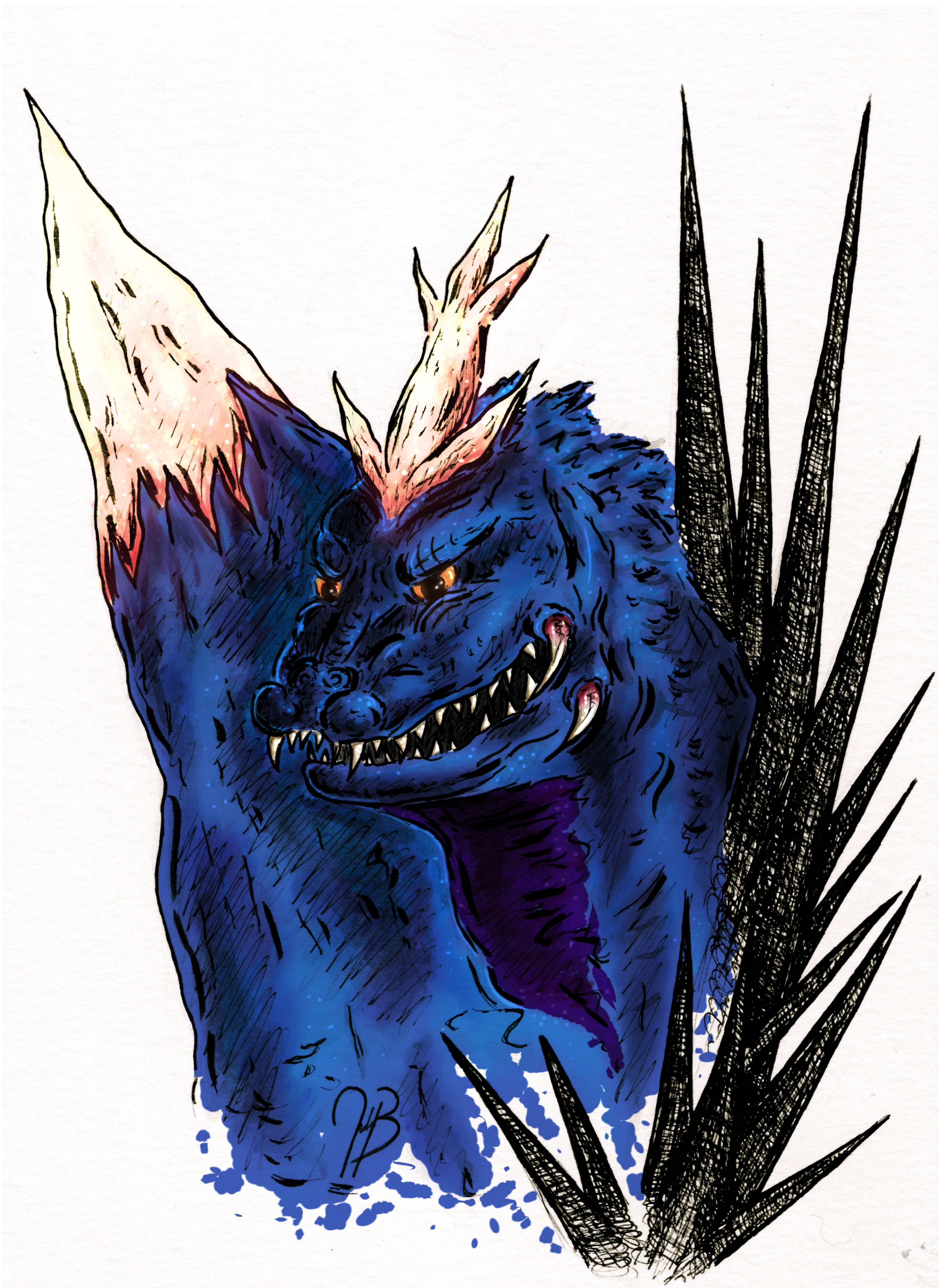 Space Godzilla (colored)