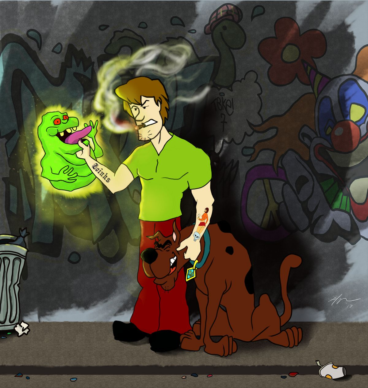 Shaggy ain't afraid of no ghost