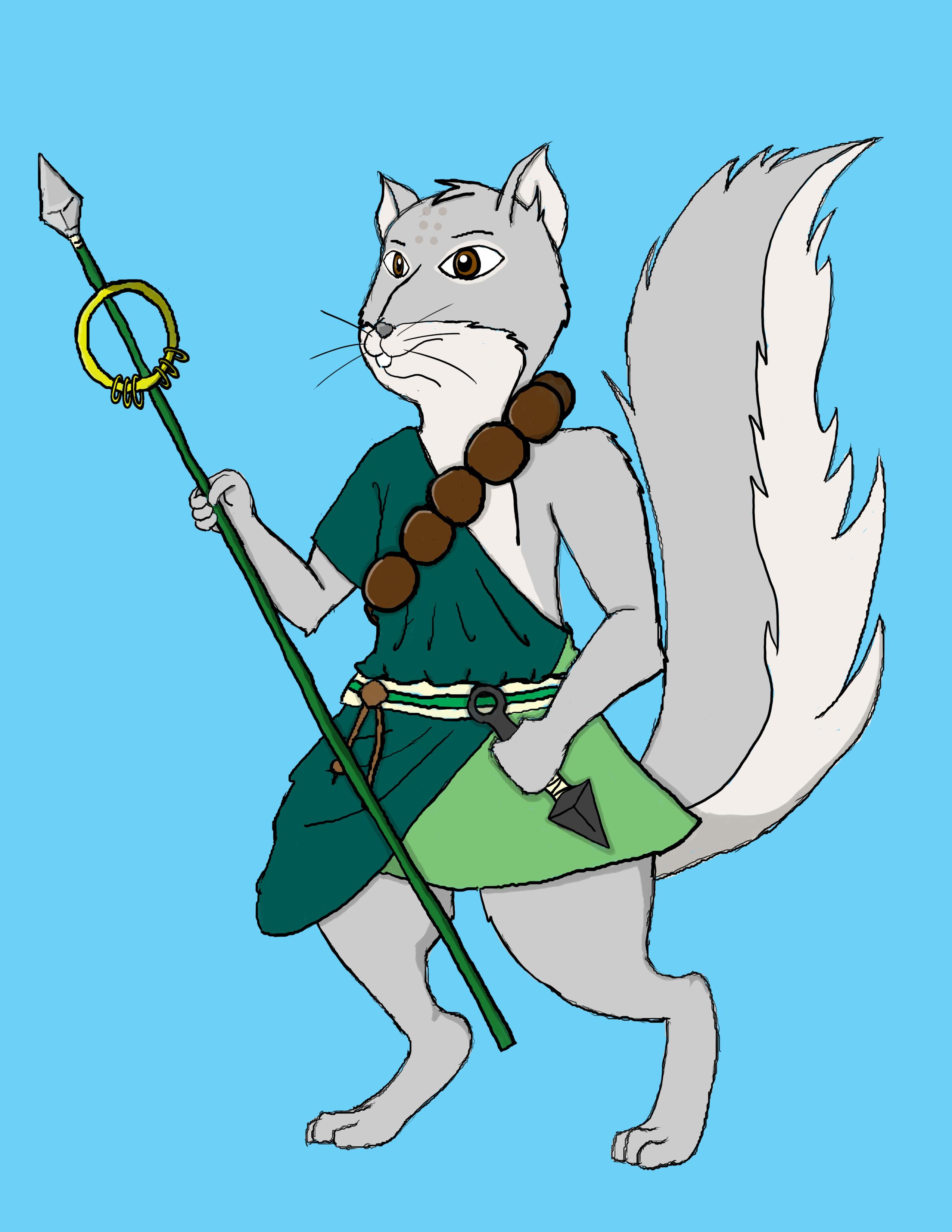 Mamoru the Squirrel Monk