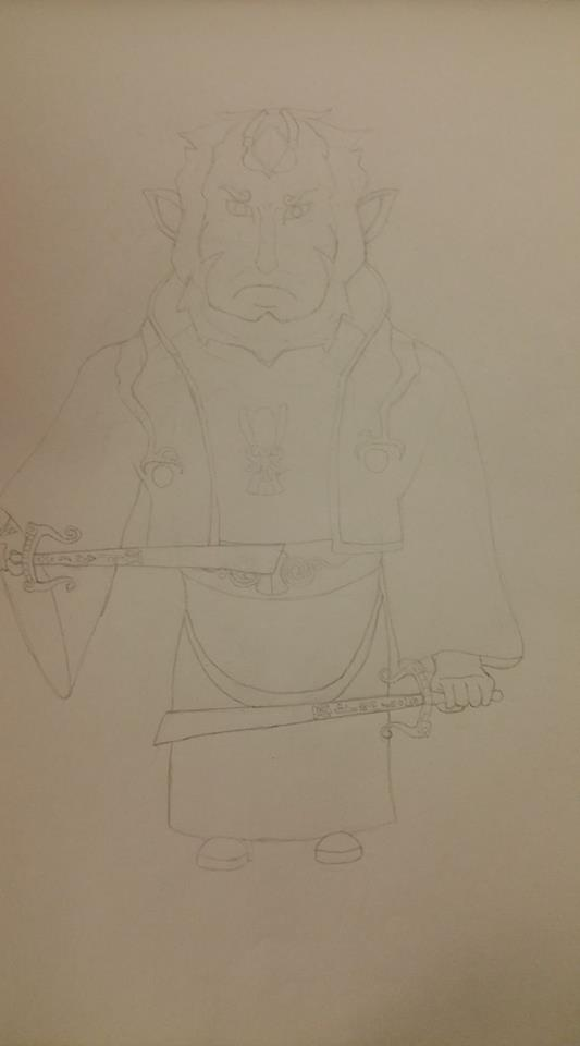 Ganondorf- LoZ: The Wind Waker Commission (Light Outline Sketch)