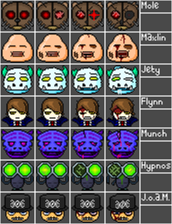 Boss faces for some project, probably