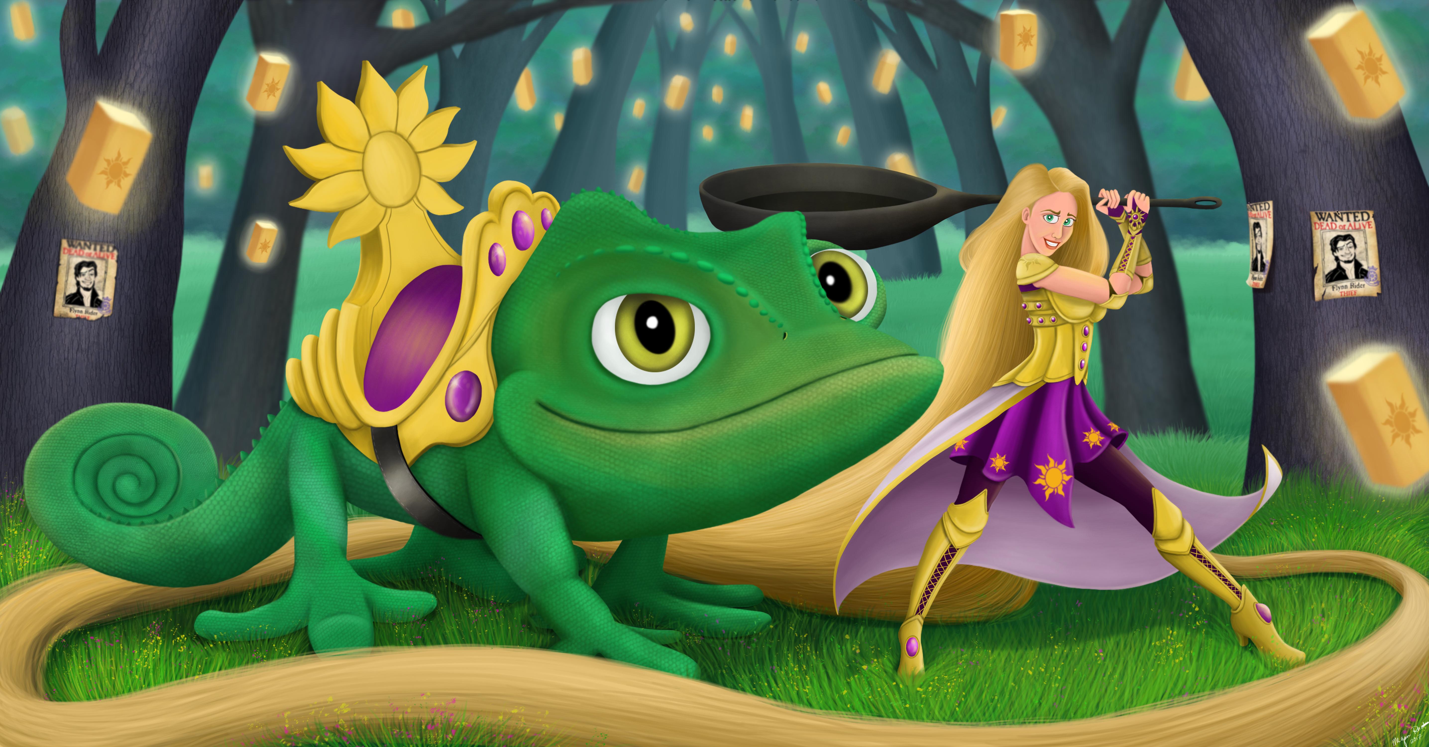 LVL 99 Rapunzel and Pascal