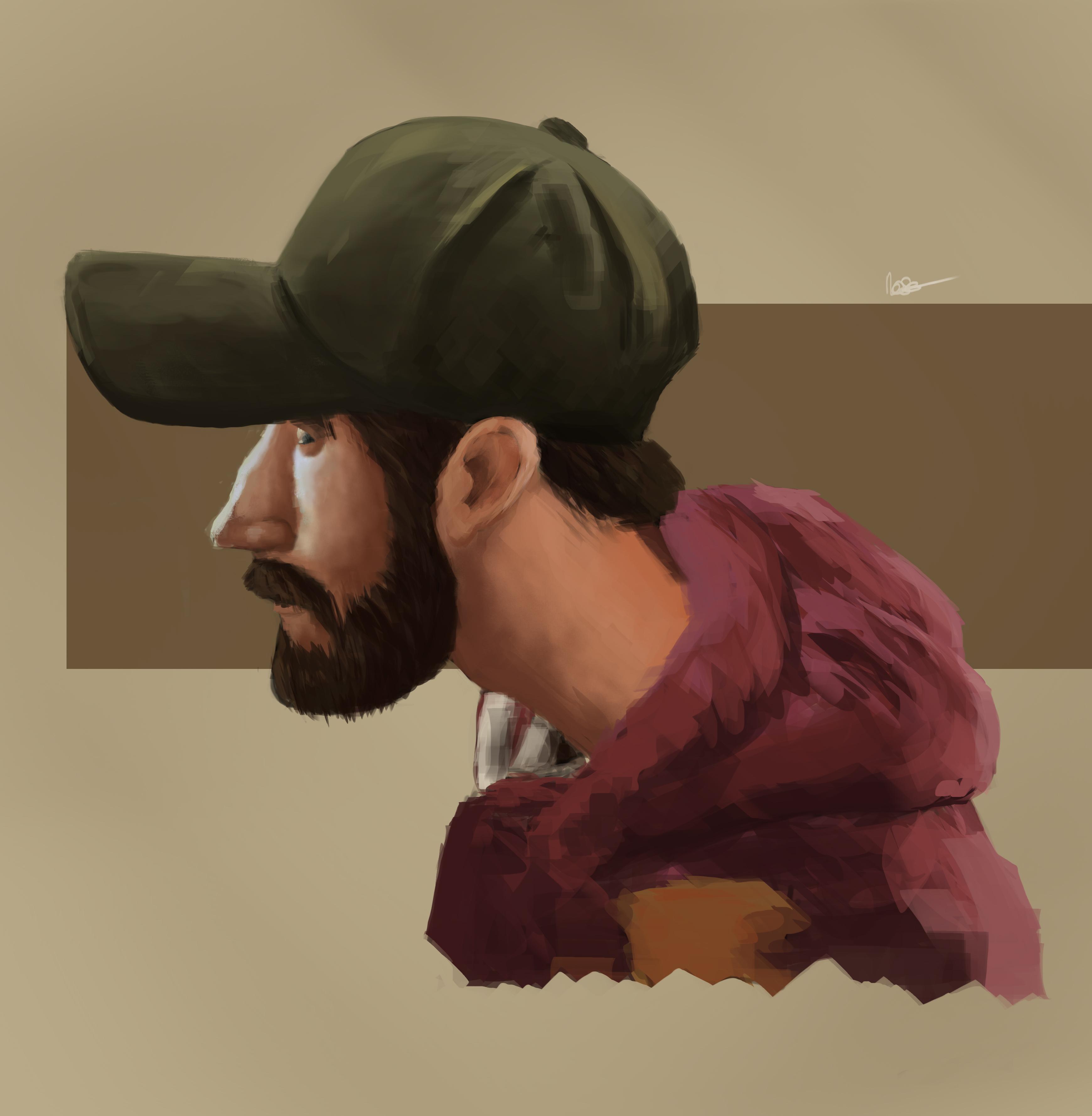 Side self portrait