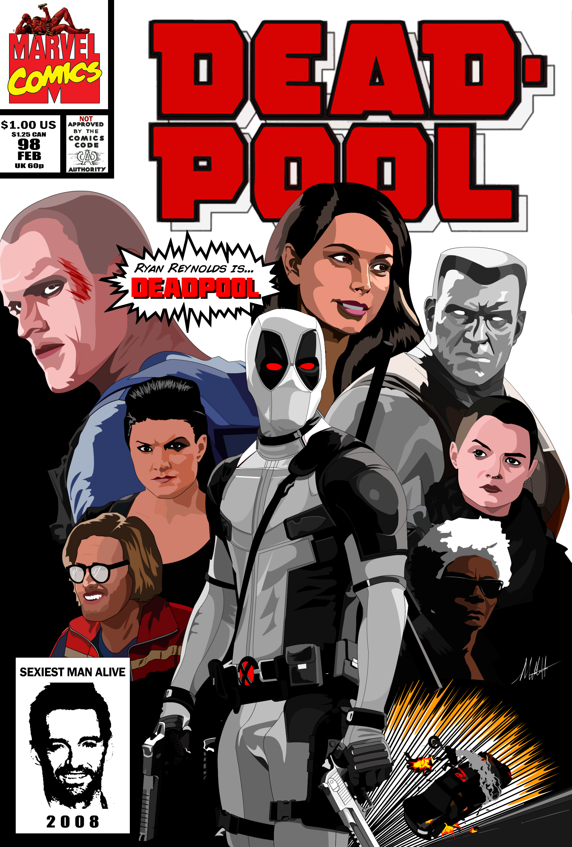 Deadpool Movie (Classic Comic Cover) X-Force Variant