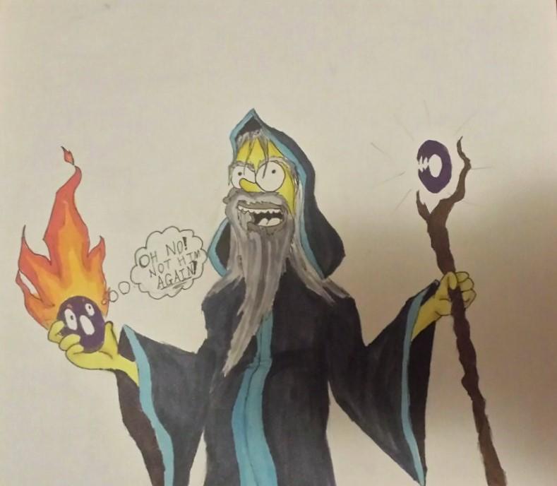Lvl 99 Wizard Homer Simpson