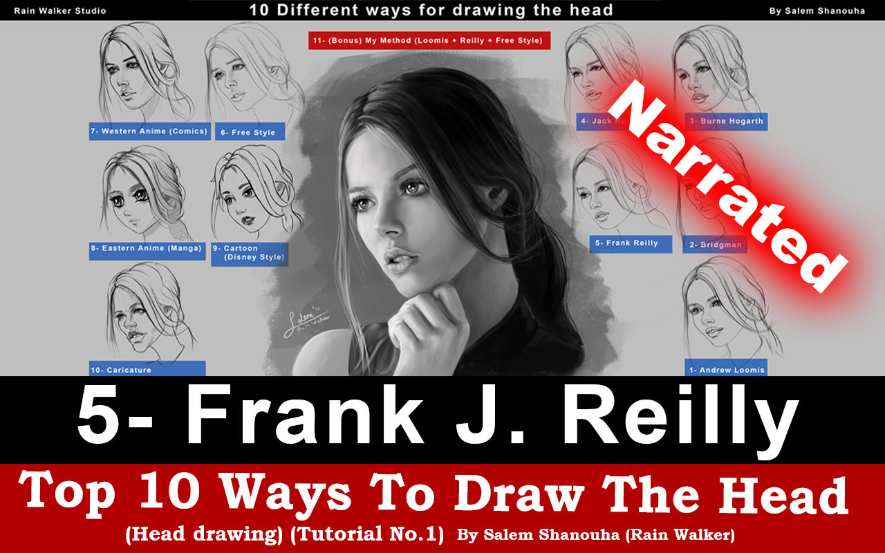 """Top 10 ways to draw the head [5- Frank Reilly] """"Narrated"""""""