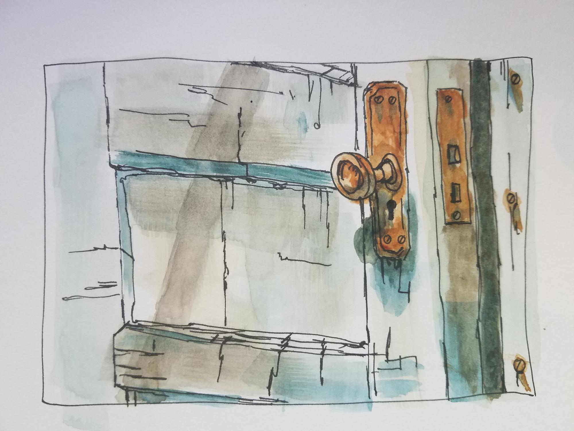 Door - Watercolor
