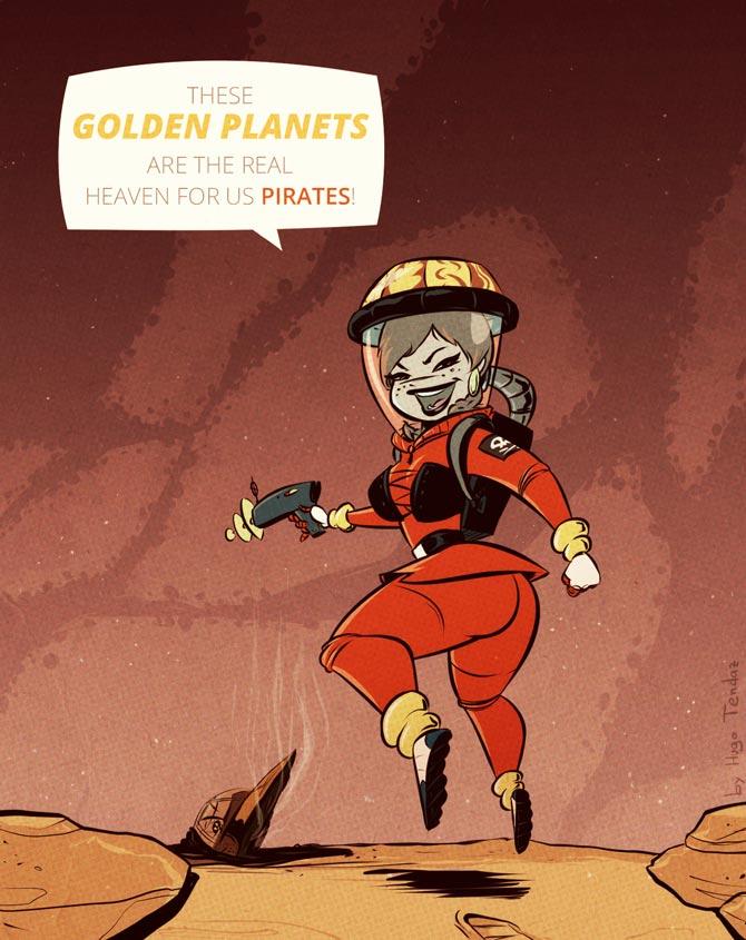 Art Trade - Aubrey In Space - Cartoony PinUp