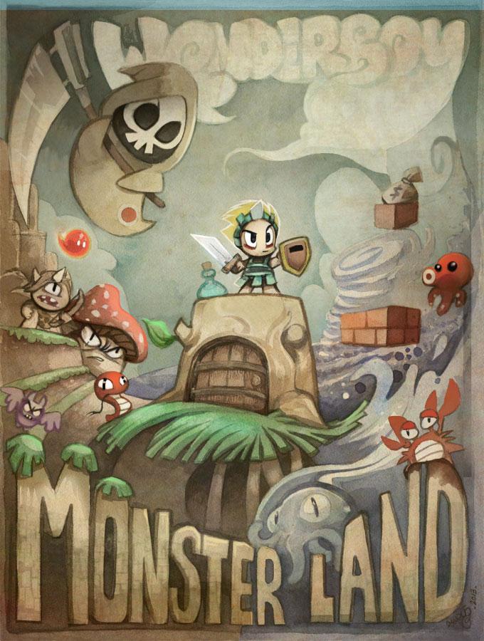 wonderboy in monsterland fanart