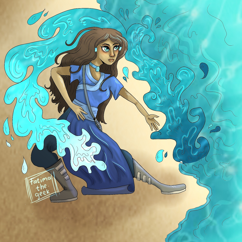 Katara the waterbending queen